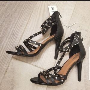 Mossimo Black Studded High Heels Size 8